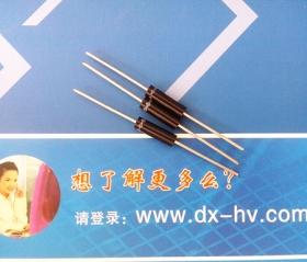 高压二极管 2CL 5KV/0.1 φ4.3×15 引线1.0 (单位:mm)
